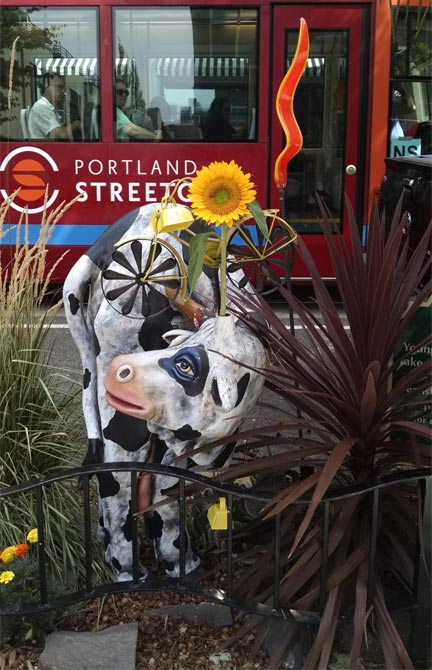 Pearl The Cow, Pearl District Properties Greeter